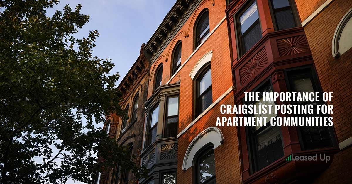 Craigslist Is The Most Viable Apartment Listing Platform